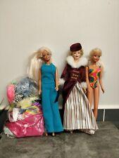 Barbie Doll Bundle of Retro Figures and Clothing  Good Condition Original