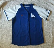 Pre-Owned Nike Team Youths LA Dodgers Jersey Top Size Youth Large