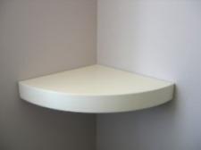 Floating Corner Shelf (Round) with concealed brackets |  bespoke size Available!