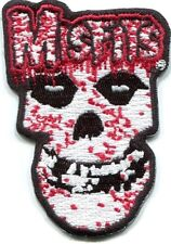 MISFITS bloody skull EMBROIDERED IRON-ON PATCH Free Shipping p1749 crimson ghost