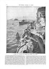 WWI Marine Nationale Cuirassé Gaulois Marins l'Ile aux Lapins A ILLUSTRATION