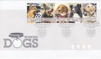 AFD237) Australia 2008 Working Dogs Strip 5 FDC