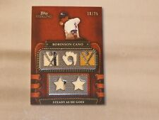 2010 Topps Sterling Bat/Quad Jersey - Robinson Cano 18/25 - Card # 5LLR-33