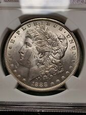 More details for 1888 morgan dollar ms62 graded ngc