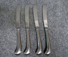 4 Barclay Geneve OYSTER BAY Dinner Knives Rat Tail Pistol Grip Stainless Steel