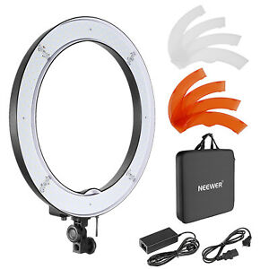 """Neewer 18"""" 55W 240PCS LED SMD Dimmable Ring Video Light with Color Filter Set"""