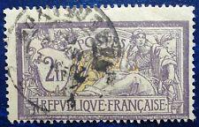 France oblitéré, n°122, 2F Merson violet et jaune, 1900