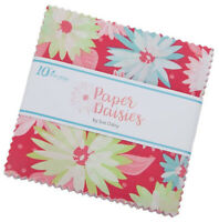 "Riley Blake, Paper Daisies, 5"" Charm Pack, Fabric Quilt Squares 5-8880-42, SQ100"