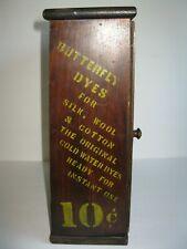 Vintage Wood General Store Advertising Dye Counter Top Display Cabinet Case
