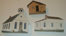 Cat's Meow Village Little House on the Prairie Lot of 3 by Faline 1998