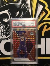 2019-20 PANINI MOSAIC LEBRON JAMES FUSION RED CHOICE 29/88 PSA 9 LAKERS