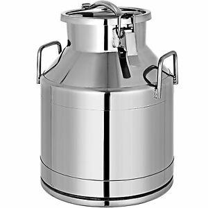 20 Liter Milk Can Wine Pail Bucket Tote Jug Canister Milk Bucket Stainless Steel