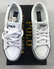 Designer Polo Ralph Lauren Bolingbrook Sneaker White Leather Size UK-6 EU-40
