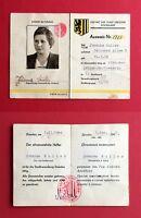 früher Ausweis ehrenamtlicher Helfer der Stadtverwaltung Dresden 1946 RAR( 39926
