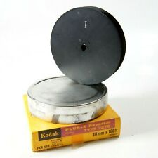 Kodak Empty Metal Film Reel 90mm Diameter Takes 100ft 16mm Film With Can & Box