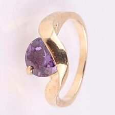 VERY HIGH QUALITY 14k Gold Filled Round Cut Amethyst Size Q 1/2 Ring LAST ONE!