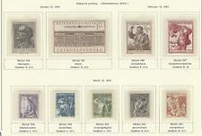 1954 Year Set, Mi. 844 - 889, MNH, Postfrisch **, (47 items)