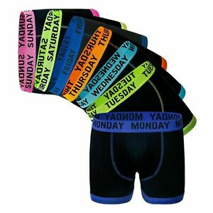 Men's  7 Days Of The Week Underwear Trunks Boxers Shorts S-XXL 100% Cotton Only