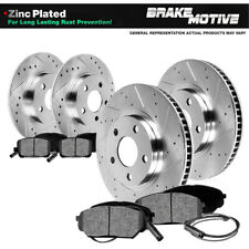 For 1995 - 1999 BMW 318Ti Front+Rear Drill Slot Brake Rotors & Metallic Pads