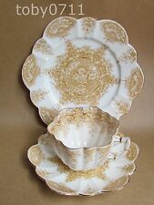 WILEMAN FOLEY (PRE SHELLEY) PARADISE 6239 DAISY SHAPE TEA CUP TRIO (Ref1989)