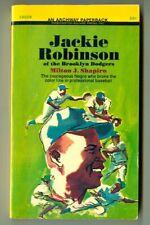JACKIE ROBINSON (Brooklyn DODGERS) by Milton Shapiro! Vintage 1968 Archway PB!