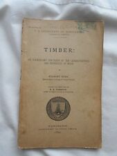 TIMBER:PROPERTIES OF WOOD-U.S.DEPT. OF AGRICULTURE-WASH.D.C.-1895
