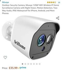 Outdoor Security Camera, Niluoye 1296P WiFi Wireless IP Home Surveillance Camera