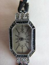 Sterling Silver GS 1932 Art Deco Ladies Cocktail Watch Marcasite Spares/Repair