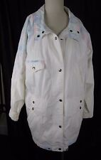 Vintage NYG New York Girl Floral Oversized 80s 90s Barn Jacket Coat Womens L