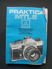 Praktica MTL 5 Instruction book original