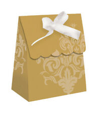 Anniversary Cheers Gold Swirl Party Favor Bags-12ct #099CTC 99th Birthday
