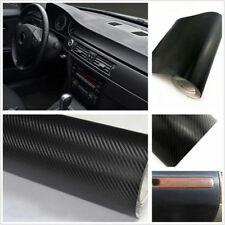 Interior Sticker Interior Panel Car Black Carbon 3D Vinyl Wrap Fiber Accessories
