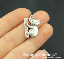 10pcs Koala Metal Charm Antique Tibetan Silver Charm Pendant SC430