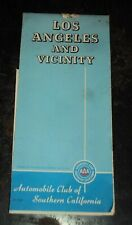 Vintage Freeway System Los Angeles and Vicinity 1976 AAA folding road map