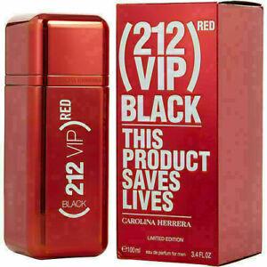 212 Vip Black By Carolina Herrera Eau De Parfum Spray 3.4 Oz (red Edition)