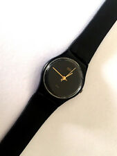 SWATCH QUARTZ SWISS MADE 755 BLACK COLOR LADIES WATCH FOR PARTS REPAIR ONLY