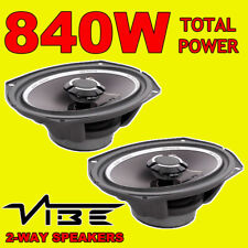 "VIBE Slick 69.2 6x9"" 2-way Car Audio Stereo Coaxial Speakers Door Dash 140w RMS"