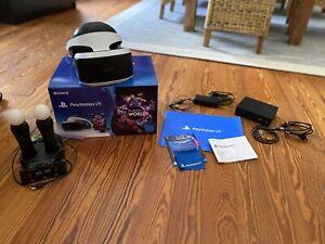 VR Brille ps4 gebraucht mit 2 Move Motion Controller-in einem Sehr Guten Zustand