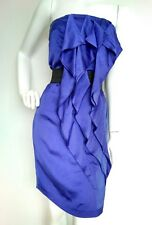 Designer REISS Eva cocktail dress size 6 --USED ONCE-- satin Christmas party