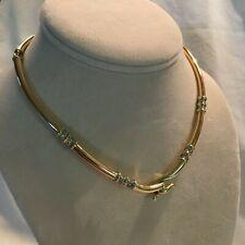 14K Gold Necklace Diamond, 24 Round Diamonds .25 tcw, 26.8 grams Nice !!