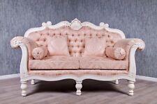 Barock Sofa Barocksofa Couch Kanapee Polster creme Massiv Antik weiß Vintage 200
