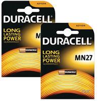 2 X DURACELL MN27 A27 12V ALKALINE BATTERY 27A GP27A V27A E27A EL812 REMOTES