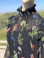 Irregular Ted Baker Chiffon Dress with Slip US8-10