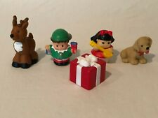 Fisher Price Little People Christmas Figures Toys Elf Reindeer Puppy Dog Gift