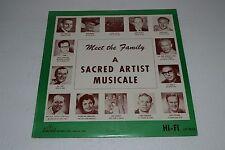 Meet The Family~A Sacred Artist Musicale~Sacred LP 9014~RARE Christian Gospel