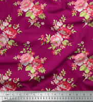 Soimoi Cotton Fabric By the Metre Floral Printed Sewing Material 58 Inches Wide