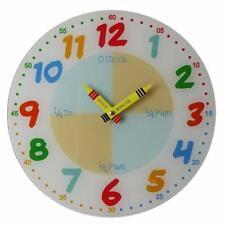 Glass Children's Analogue Wall Clocks