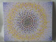 Cuadro de técnica mixta sobre lienzo. Espiral