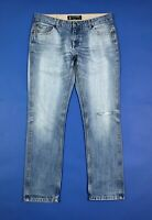 72D jeans uomo usato straight fit W38 tg 52 gamba dritta denim boyfriend T6732