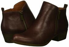 Lucky Brand Womens Basel Leather Almond Toe Ankle Cowboy Boots, Raisin, Size 7.5